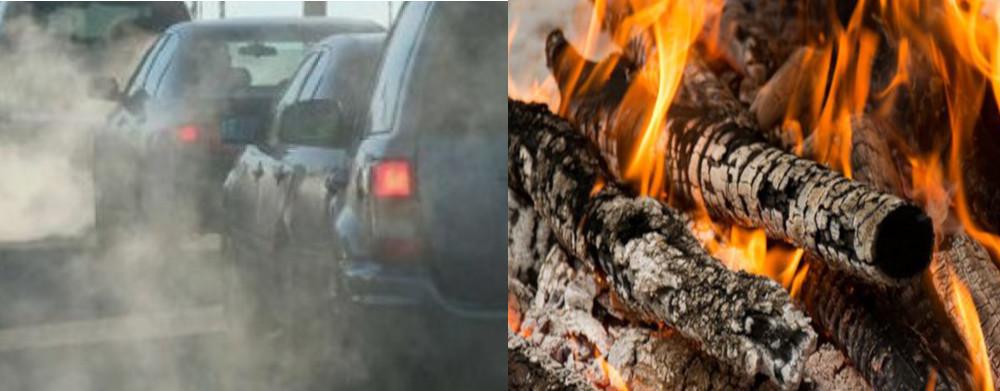 Inquinamento atmosferico da polveri sottili dannose causate dall'uomo