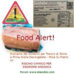 Richiamo prodotto alimentare - Food Alert  Trance Tonno pinne gialle - Ittica Zu Pietro