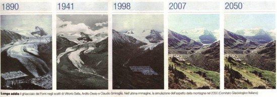Ghiacciai alpini si stanno sciogliendo e potrebbero scomparire per fine secolo